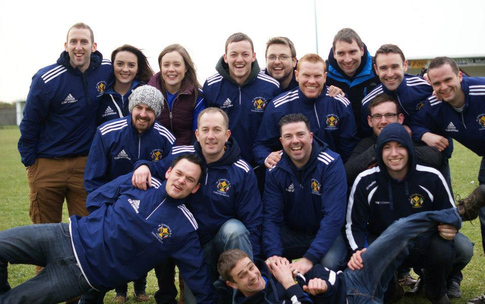 Some of the Cardiff St. Colmcilles Mens and Ladies Team enjoying the Final of the Paidi O' Se Football Tournament in Kerry 2013