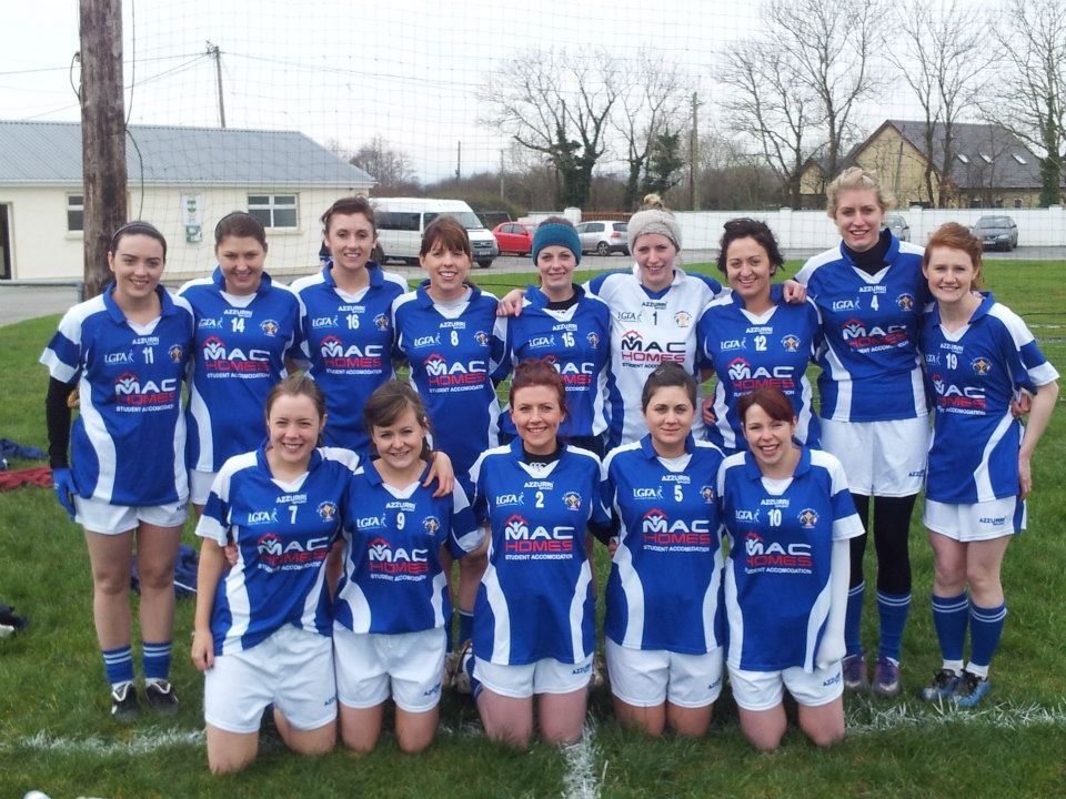 Cardiff St. Colmcilles Ladies Team just before their competitive debut at the Paidi O' Se Football Tournament in February 2013